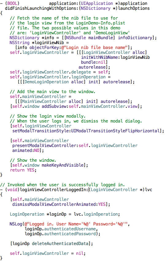 Reusable ios user authentication view controller on github ijoshsmith i m4hsunfo
