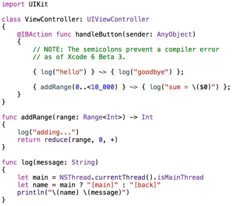 Custom Threading Operator in Swift