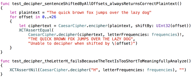 Caesar cipher in Swift | iJoshSmith